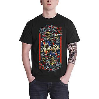 Anthrax T Shirt Evil King band logo new Official Mens Black