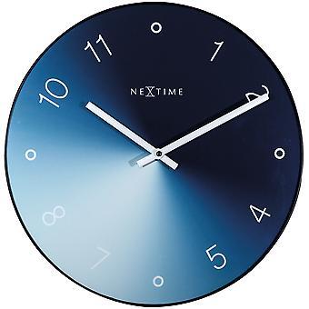 NeXtime - Horloge murale - 40 cm - Verre / Métal - Bleu - Apos;Gradient-apos;