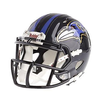 Riddell mini football helmet - NFL Baltimore Ravens speed