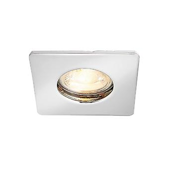 Saxby Lighting Speculo Fire Rated 1 Light Bathroom Recessed Downlight Chrome Plate, Glass IP65 80246