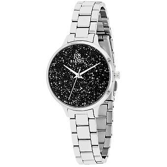Roberto Bianci Femmes apos;s Gemma Black Dial Watch - RB0248