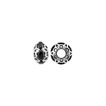 Storywheels Oxid Argent et Onyx Patterned Charm S483ON