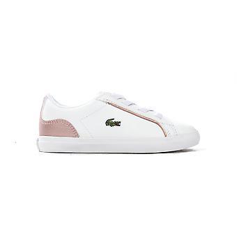 لاكوست Lerond 319 2 الرضع أطفال الفتيات المدرب حذاء أبيض / وردي