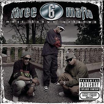 Three 6 Mafia - de fleste kendt ukendt [CD] USA import