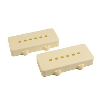 WD Music Jazzmaster Pickup Covers (set Of 2) Aged White