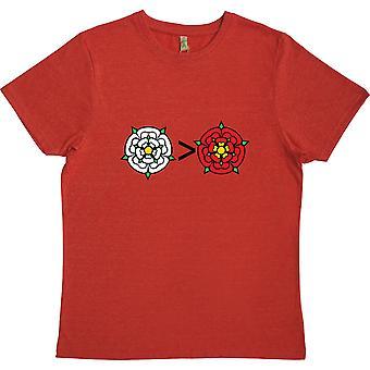 Yorkshire es mayor que la ncashire rojo 100% camiseta reciclada