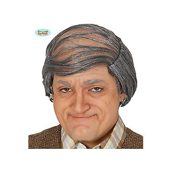 Wigs  Old man with combed over hair wig grey