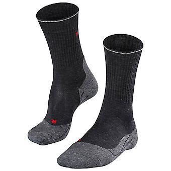 Falke Trekking 2 Wolle Seide Socken - Asphaly Mel grau