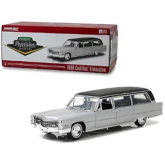 1966 Cadillac S&S Limousine Silver With Black Top Precision Collection Limited Edition To 396 Pieces Worldwide 1/18 Diecast Model Car By Greenlight