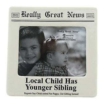 Really Great News Local Child Has Younger Sibling 4 X 5 Photo Frame