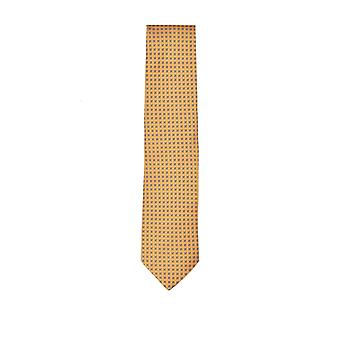 Eton Silk Tie Yellow Patterned