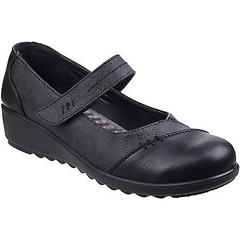 Caravelle Womens Orton Bar Comfy Lightweight Wedged Shoes