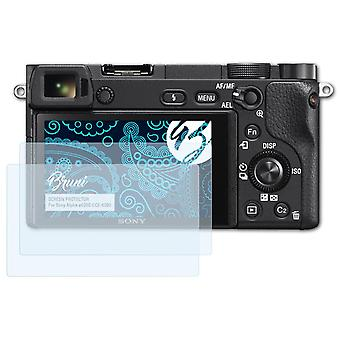 Bruni 2x Screen Protector compatible with Sony Alpha a6300 ILCE-6300 Protective Film
