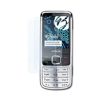 Bruni 2x Schutzfolie kompatibel mit Nokia 6700 Classic Folie
