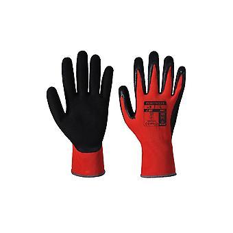 Portwest red cut workwear gloves - pu a641
