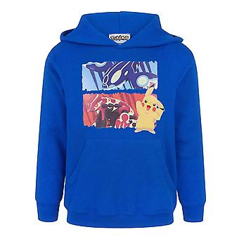 Pokemon Pikachu Characters Boy's Children's Navy Blue Hoodie