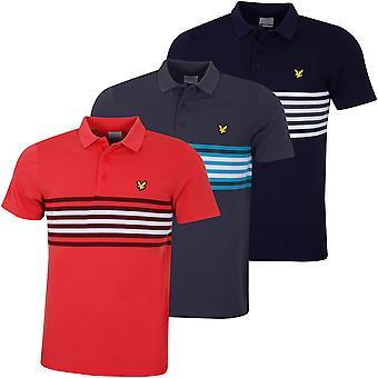 Lyle & Scott Mens Plus Stripe Vochtafvoerend Licht Polo Shirt
