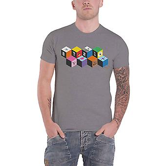 Official BT21 T Shirt BTS Blocks K-Pop Koya Shooky Chimmy Official Unisex Grey