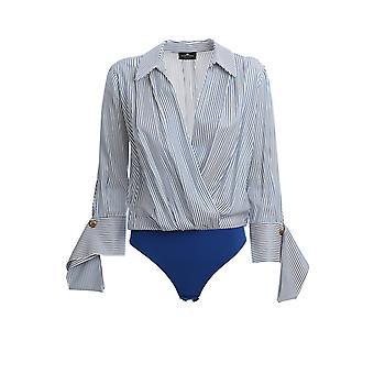 Elisabetta Franchi Cb10001e2i21 Women's Blue Viscose Bodysuit