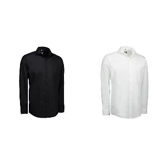 ID Mens Poplin Long Sleeve Modern Fit