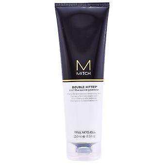Paul Mitchell Mitch Double Hitter 2 In 1 Shampoo & Hair Conditioner 250 ml