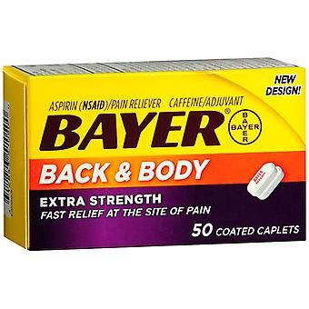 Bayer back & body pain reliever, coated caplets, 50 ea
