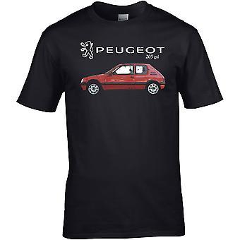 Peugot 205 GTI Classic - Bilmotor - DTG trykt T-skjorte