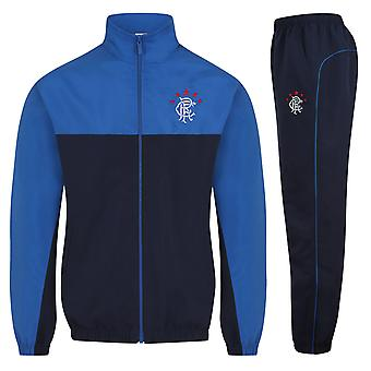 Rangers FC Official Football Gift Mens Jacket & Pants Tracksuit Set