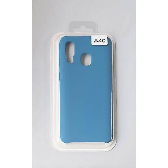 Silicone Cover Case for Samsung A40 Blue