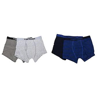 Tom Franks Mens 100% Cotton Trunks (Pack Of 4)