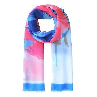 Jewelcity Womens/Dames Abstract Schilderkunstige Geprinte sjaal