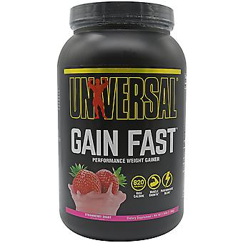 Universal Nutrition Gain Fast Dietary Supplement - 5 Servings - Strawberry Shake