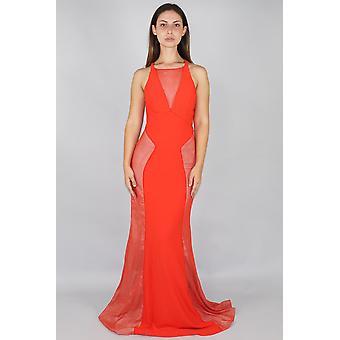Jemma v-hals kanten lambrisering jurk