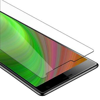 Cadorabo Tank Foil for Sony Xperia 10 - Protective Film in KRISTALL KLAR - Tempered Display Protective Glass in 9H Hardness with 3D Touch Compatibility
