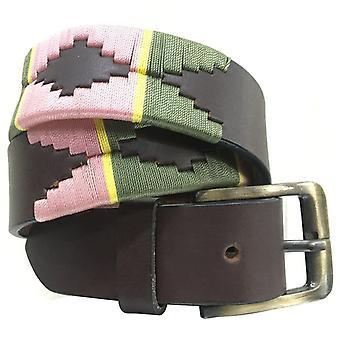Carlos diaz unisex brun læder polo bælte cdupb140