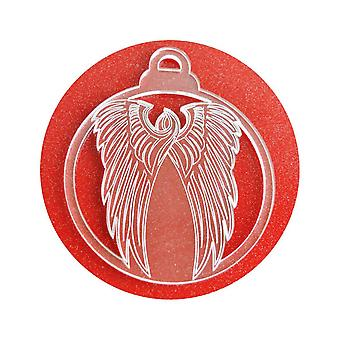 6 Pk 天使翼アクリル クリスマスの装飾