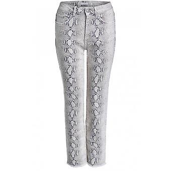 Oui Snake Skin Print Jeans