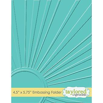 Taylored Expressions Walking On Sunshine Embossing Folder