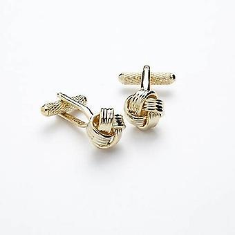 Onyx Art CK205 Cufflinks - Gilt Knot