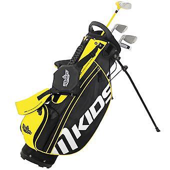 MKids Lite Junior Kids Golf Tas en Clubs Half Set Left Hand Yellow 5-7 Jaar