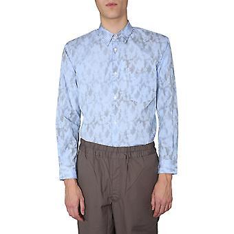 Comme Des Garçons Shirt S280721 Men's Light Blue Cotton Shirt