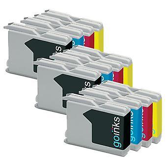 3 inktcartridges in sets ter vervanging van Brother LC970 & LC1000 Compatible/non-OEM by Go-inkten (12 inkten)