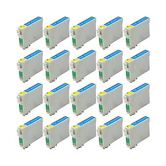 RudyTwos 20x Replacement for Epson Seahorse Ink Unit LightCyan Compatible with Stylus Photo R200, R220, R300, R300M, R320, R325, R330, R340, R350, RX300, RX320, RX500, RX600, RX620, RX640