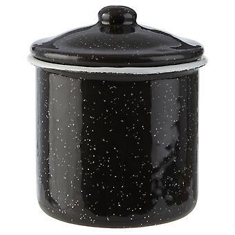 Hygge Small Black and White Canister