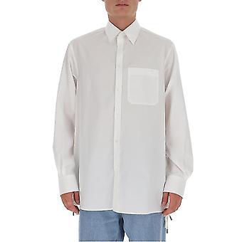 Valentino Uv3abf0044ww001 Männer's weißes Baumwollhemd