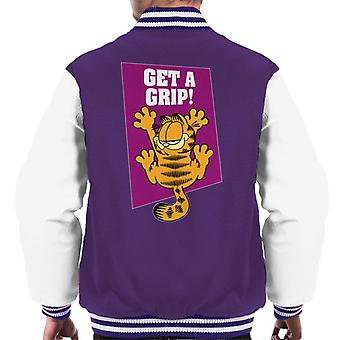 Garfield Get A Grip On The Wall Men's Varsity Jacket