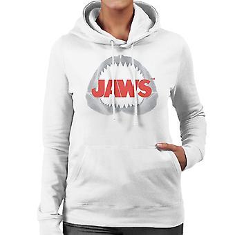 Jaws Teeth Logo Women's Hooded Sweatshirt
