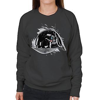 Opprinnelige Stormtrooper Imperial Gunner hjelm kvinners Sweatshirt