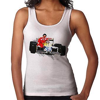 Motorsport Images Nelson Piquet Honda Gives Alain Prost A Lift German GP Women's Vest