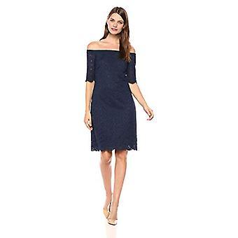 Merk - Lark & Ro Women's Half Sleeve Lace Off the Shoulder Sheath Dress, Peacoat Navy, 8